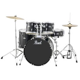 Image for Roadshow RS525SC 5-Piece Drum Set w/ Hardware & Cymbals (Jet Black) from SamAsh
