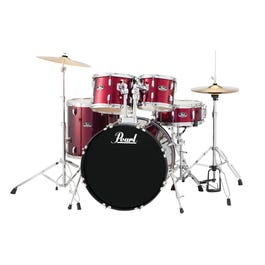 Image for Roadshow RS525SC 5-Piece Drum Set w/ Hardware & Cymbals (Red Wine) from SamAsh
