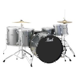 Image for Roadshow RS525WFC 5-Piece Drum Set w/ Hardware & Cymbals (Charcoal Metallic) from SamAsh