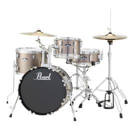Image for Roadshow RS584C 4-Piece Drum Set w/ Hardware & Cymbals (Bronze Metallic) from SamAsh