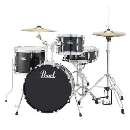 Image for Roadshow RS584C 4-Piece Drum Set w/ Hardware & Cymbals (Jet Black) from SamAsh