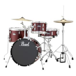 Image for Roadshow RS584C 4-Piece Drum Set w/ Hardware & Cymbals (Red Wine) from SamAsh