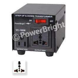 Image for VC100W 100W Step UP/DOWN Voltage Transformer (Open Box) from SamAsh