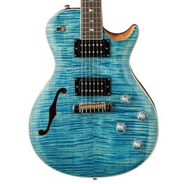 Image for Zach Myers Semi-Hollow Body Electric Guitar (Myers Blue) from SamAsh
