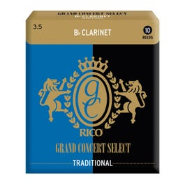 Image for Rico Grand Concert Select #3.5 Reeds for Bb Clarinet (Box of 10) from SamAsh