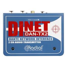 Radial DiNET DAN-TX2 2-Channel Dante Network Transmitter