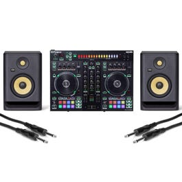 """Image for DJ-505 Serato DJ Controller with KRK 5"""" Monitor Speakers and 1/4"""" Cables from SamAsh"""