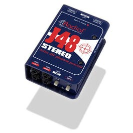 Radial J48 Stereo J48S Phantom Powered Active Direct Box
