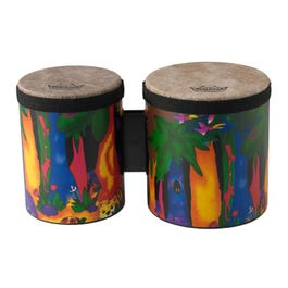 """Image for Kids Percussion Bongo Drum - Fabric Rain Forest - 5"""" & 6"""" from SamAsh"""