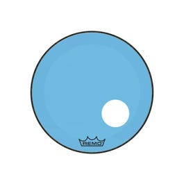 """Image for Powerstroke P3 Colortone Bass Drumhead with 5"""" Offset Hole - Blue from SamAsh"""