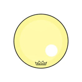 """Image for Powerstroke P3 Colortone Bass Drumhead with 5"""" Offset Hole - Yellow from SamAsh"""