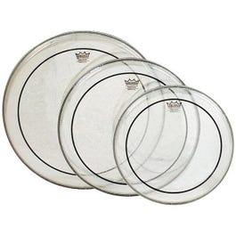 """Image for Clear Pinstripe Standard Sizes Drum Head Pre Pack (with 14"""" Coated Powerstroke from SamAsh"""