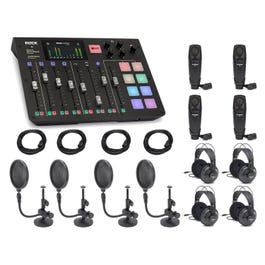 Image for RodeCaster Pro Full Pack with Mics, Filters, Headphones, and Cables from SamAsh