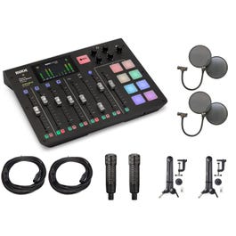 Image for RodeCaster Pro Podcast Production Studio with Mic and Accessories from SamAsh