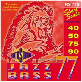 Image for RS77S Jazz Bass Monel Short Scale Electric Bass 4 String Set (40-90) from SamAsh