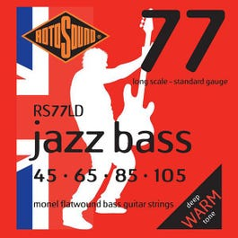 Image for RS77LD Jazz Bass Monel Electric Bass 4 String Set (45-105) from SamAsh