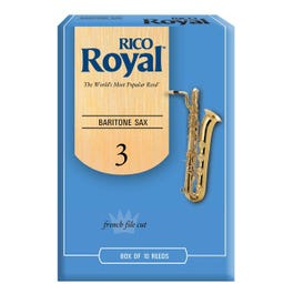 Image for Rico Royal Baritone Saxophone Reeds (Assorted Strengths) from SamAsh
