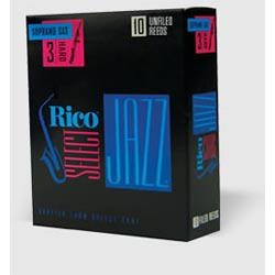 Image for Rico Select Jazz Unfiled Soprano Saxophone Reeds (Assorted Strengths) from SamAsh
