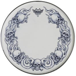 """Image for 13"""" Tattoo Skyns Skull Snare Drumhead from SamAsh"""
