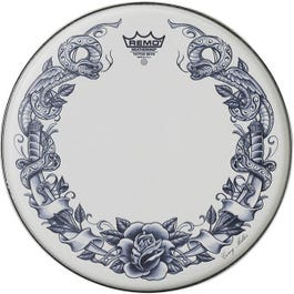 """Image for 14"""" Tattoo Skyns Serpent Rose Snare Drumhead from SamAsh"""