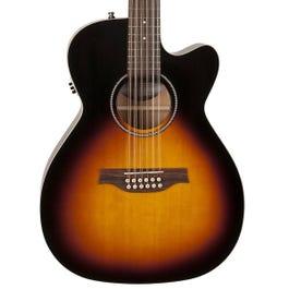 Seagull Coastline S12 Spruce Sunburst Cutaway Concert Hall 12-String Acoustic-Electric Guitar