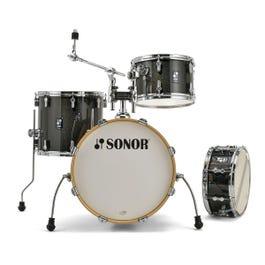 Sonor AQX Jazz 4-Piece Drum Shell Pack (Black Midnight Sparkle)