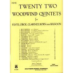 Image for 22 Woodwind Quintets for Clarinet from SamAsh