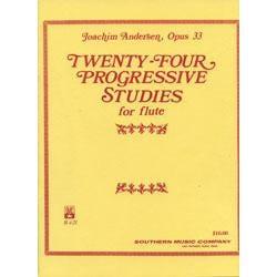 Image for Andersen Twenty Four Progressive Studies for Flute from SamAsh