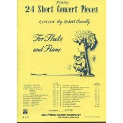 Image for Twenty Four Short Concert Pieces for Flute from SamAsh