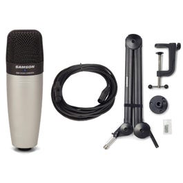 Image for C01 Large-Diaphragm Condenser Microphone with Boom Arm and Cable from SamAsh