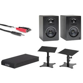 Image for MediaOne M50 Powered Studio Monitors with Accessories from SamAsh