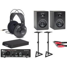 Image for MediaOne M50 Powered Studio Monitors with Interface and Accessories from SamAsh