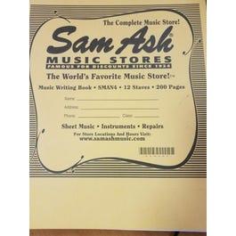 Sam Ash 12 Stave 200 pg Manuscript - SMAN4