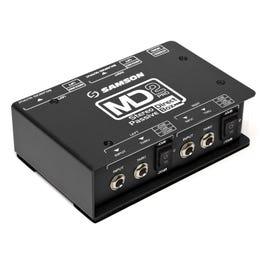 Samson MD2 Pro Stereo Passive Direct Box, Shielded Transformer
