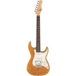 Michael Kelly Mod Shop 65 Fralin Electric Guitar(Amber-Trans)
