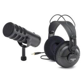 Samson Q9U Dynamic Broadcast Microphone with SR950 Headphones