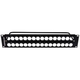 """Switchcraft QGPK3B440 2RU Empty QG Panel with 2X16 """"E"""" Series Knockouts, 4-40 Tapped Holes"""
