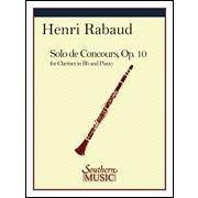 Hal Leonard Rabaud-Solo De Concours for Clarinet and Piano