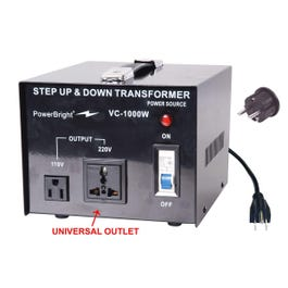 PowerBright VC1000W 1000W Step UP/DOWN Voltage Transformer