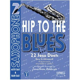 Image for Hip To The Blues / Jazz Duets Book 2 for Alto or Tenor Sax from SamAsh