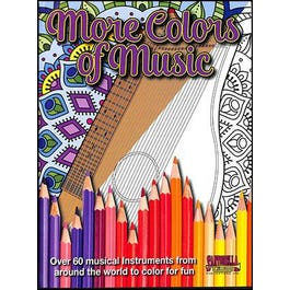 Santorella Publications More Colors of Music: Middle School to Adult Coloring Book