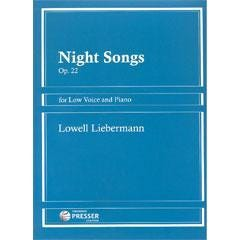 Image for Night Songs for Low Voice and Piano Op. 22 from SamAsh
