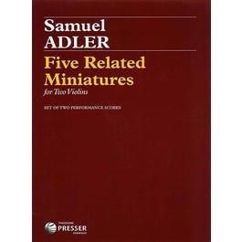 Carl Fischer Five Related Miniatures-Samuel Adler