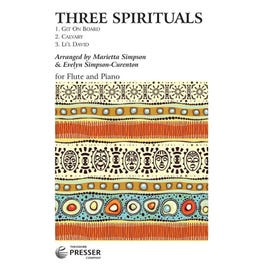 Carl Fischer Three Spirituals For Flute And Piano
