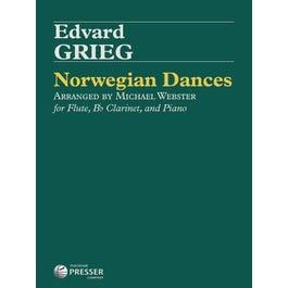 Carl Fischer Grieg-Norwegian Dances, Op. 35 For Flute, Bb Clarinet, And Piano