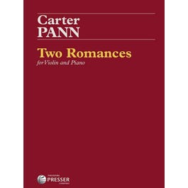 Carl Fischer Pann-Two Romances For Violin And Piano