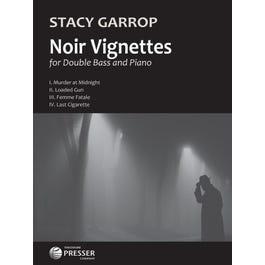 Carl Fischer Garrop-Noir Vignettes-Double Bass, Piano