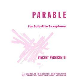 Carl Fischer Persichetti-Parable for Alto Saxophone