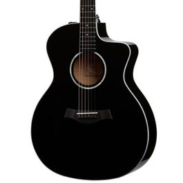 Image for 214ce-BLK DLX Black Deluxe Grand Auditorium Acoustic-Electric Guitar for SamAsh