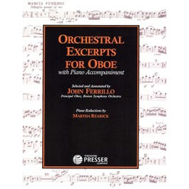 Image for Orchestral Excerpts for Oboe from SamAsh